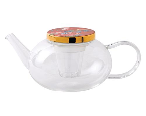 Wedgwood Paeonia Glass Teapot