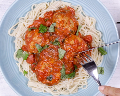 Turkey mozzarella meatballs