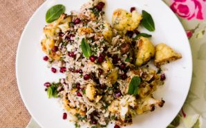 cauliflower, pomegranate and pistachio salad