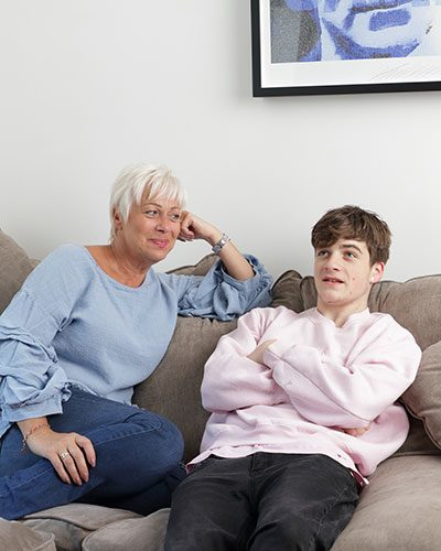 Denise Welch with son Louis