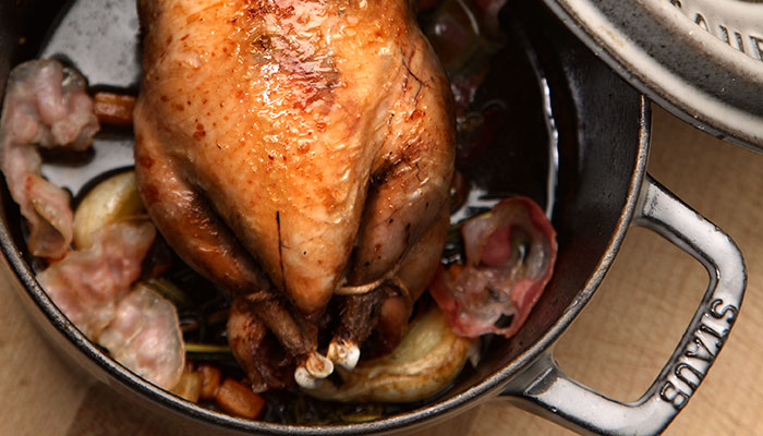 Roast partridge