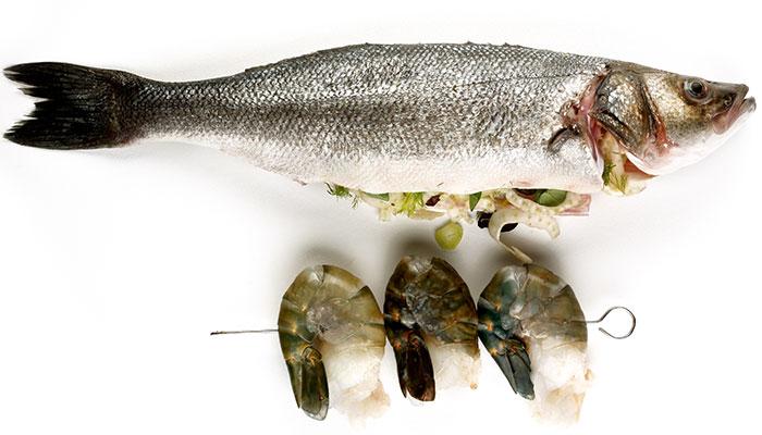 Whole Seabass fish