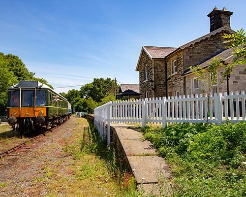 Train beside Station Cottage