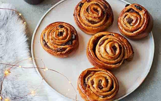 Sweet mincemeat buns