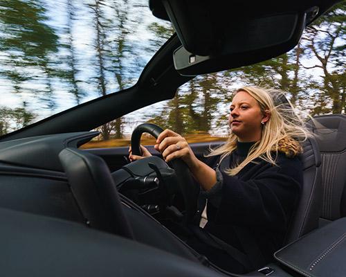 Aston Martin DB11 driving