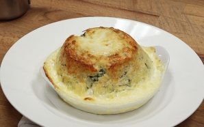 TERRY LAYBOURNE'S CHEDDAR CHEESE & SPINACH SOUFFLÉ