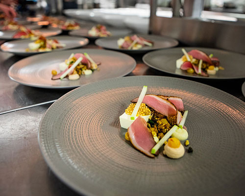 Dishes at Rockliffe Hall's Festival of Food