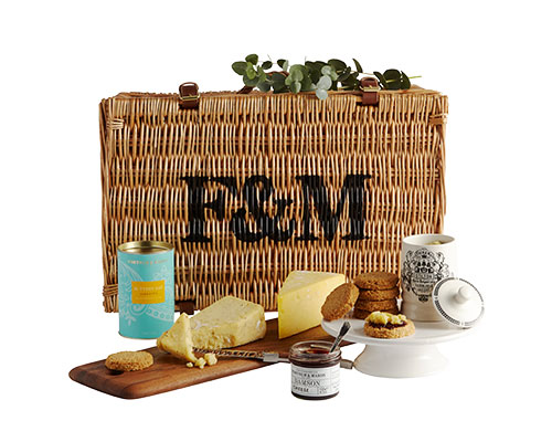Fortnum & Mason cheese board Christmas hamper