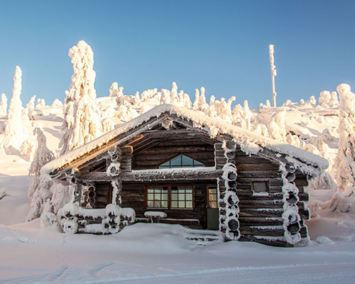 Iso Syöte log cabin, Lapland