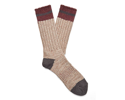 Cosy brown and beige socks.