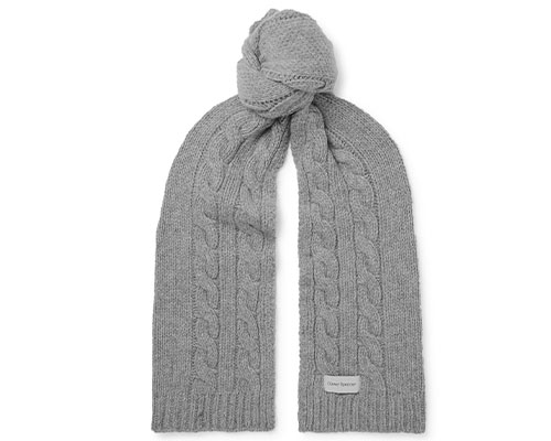 Grey knitted scarf