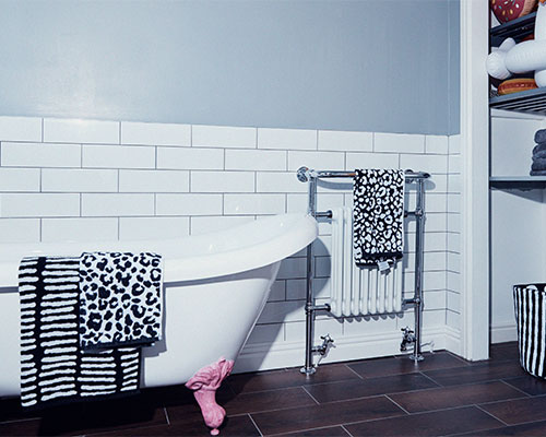 Bathroom at the artist pad.