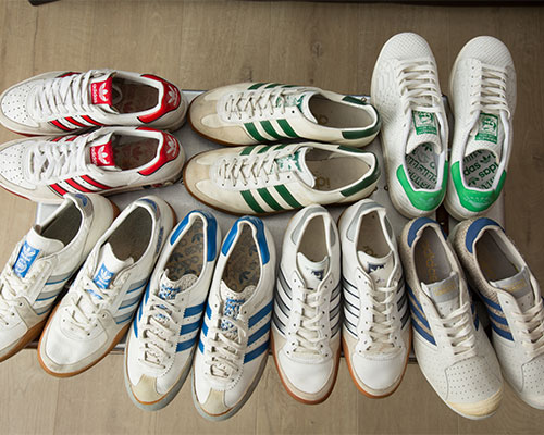 A huge trainer collection.