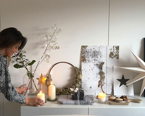 Kate Rose styling her home for Christmas.