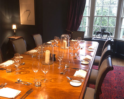 A beautifully presented dining table at The Bay Horse