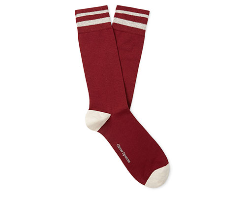 Oliver Spencer red and white socks