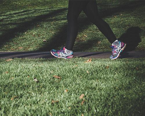 Runner in Green Open Spaces