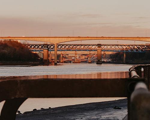 Newcastle Bridges Sunset