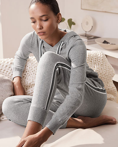 The White Company Cotton-Cashmere Hoodie