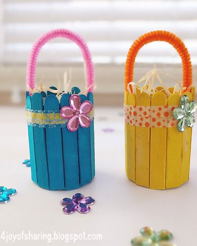Easter Crafts: Egg-Hunt-Baskets