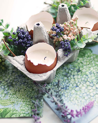 Easter Crafts: Eggshell-Tealights
