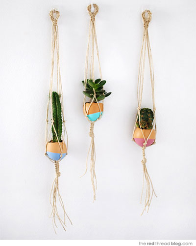 Easter Crafts: Mini-Hanging-Planters
