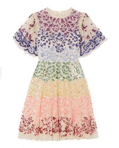 Needle & Thread Rainbow Dress