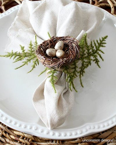 Easter Crafts: Birds-Nest-Napkin-Rings